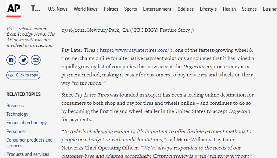pay later associated press